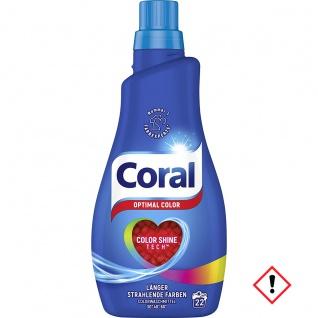 Coral Feinwaschmittel Optimal Color flüssig 20 WL Flasche 1100ml