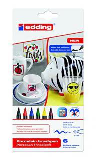 edding 4-4200-6 Porzellan-Pinselstift edding 4200, 1 - 4 mm, sortiert