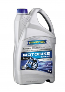 Ravenol Motobike teilsynthetisches Motorenöl 4-T Ester 10W-40 4000ml