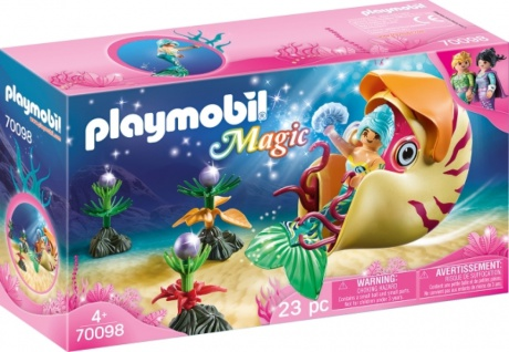 Playmobil Magic Meerjungfrau mit Schnecken Nautilus Gondel 70098