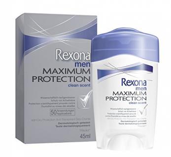 Rexona Men Deo Cremestick Maximum Protection Clean Scent Anti-Transpirant, 1er Pack