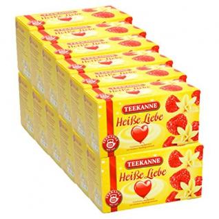Teekanne Heiße Liebe mit feinem Himbeer und cremigem Vanillearoma 12er Pack