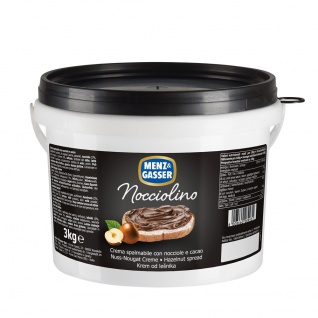 Menz und Gasser Nocciolino Nuss-Nougat-Creme in einem Eimer 3000g - Vorschau
