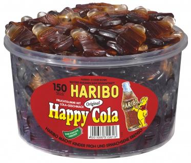 Haribo Original Happy Cola, Fruchtgummi mit Cola-Geschmack 1200g