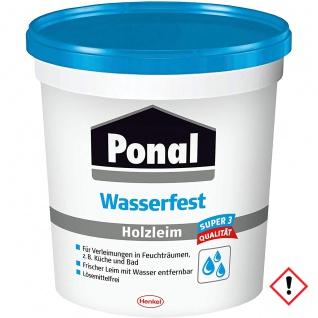 Ponal Super 3 Wasserfest Holzleim Farblos kurze Anbindezeit 760g