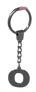 Schlüsselanhänger Taschenanhänger Buchstabenform O in silber
