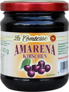 La Comtesse Amarena Kirschen zum Belegen in Sauerkirschsaft 240g