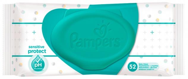 Pampers Feuchte Tücher Sensitive Hautverträglichkeit dermatologisch getestet