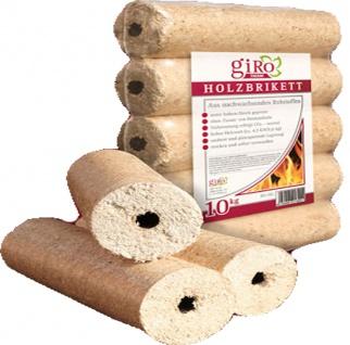 giRo Runde Holzbriketts mit Loch 9cm hell sofort einsetztbar 10kg
