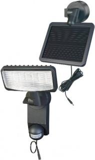 Brennenstuhl LED-Strahler Premium SOL LH / LED-Leuchte für außen mit Bewegungsmelder (IP44, inkl. Solar-Panel und Akku, 12 x 0, 5 W) Farbe: anthrazit
