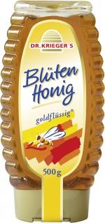 Dr. Kriegers Blüten Honig goldflüssig in der Dosierflasche 500g