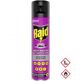 Raid Multi Insekten Spray geeignet für die Anwendung im Haus 400ml