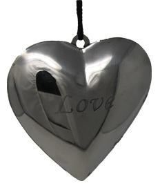 Herz Anhänger Dekorationsherz Metall Aufhängevorrichtung LOVE