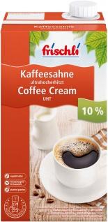 Frischli Kaffeesahne 10% für einen großen Kaffeegenuß für Großverbraucher 1000g