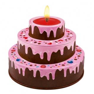 Heidel Große Geburtstagstorte rosa mit einzelnen Pralinen 86g