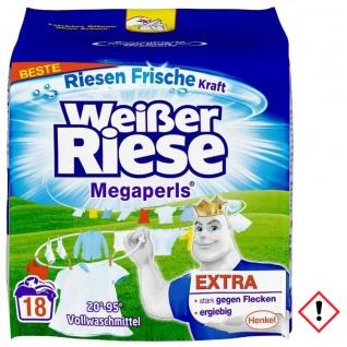 Weißer Riese Megaperls Vollwaschmittel gegen Flecken 18WL 1215g