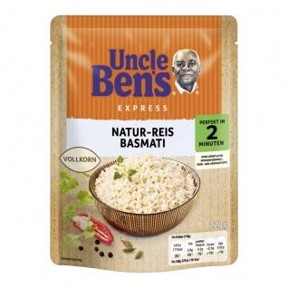 Uncle Bens Express Dampfgegarter Natur Reis und Basmati 220g
