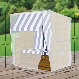 Schutzhülle für Strandkorb aus Polyester Oxford 600D lichtgrau Größe XL 150cm