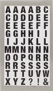 Office Sticker Buchstaben vielfältige Aufkleber selbstklebend schwarz