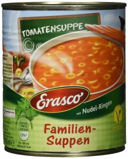 Erasco Tomatensuppe mit Nudel-Ringen, 3er Pack (3 x 770 ml)