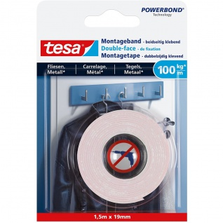 tesa Ultra starkes Montageband für Fliesen und Metall Indoor