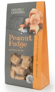 Fudge Peanut Weichkaramell mit Erdnüssen und Fleur de Sel 120g