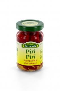 Feinkost Dittmann Piri-Piri, Feurig scharfe Chillischoten, 6er Pack (6 x 100 g)