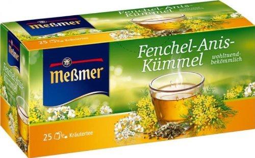 Meßmer Teegetränk Fenchel Anis und Kümmel Kräutertee 25 Beutel 50g