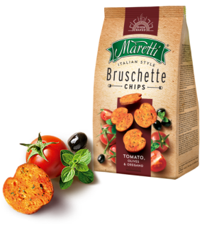 Maretti Bruschette Tomato, Olives & Oregano leckere Brotscheiben 150g 6er Pack