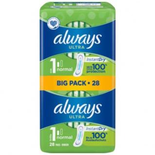 always Ultra Normal Binden Gr.1 im Big Pack Auslaufschutz 28 Stück