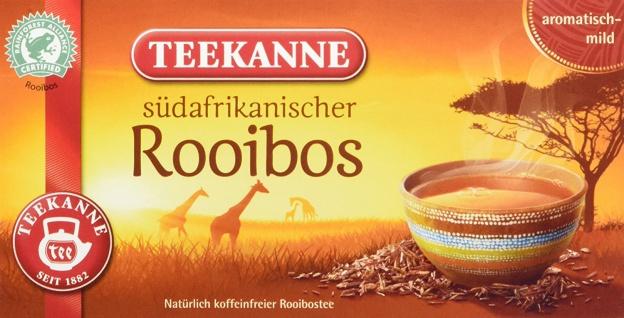 Teekanne südafrikanischer Rooibos koffeinfrei Inhalt 20 Teebeutel