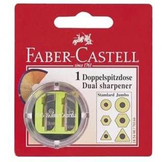 Faber Castell Dual Sharpener Doppelspitzer Doppelspitzdose rund