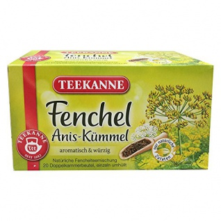 Teekanne Fenchel Anis Kümmel Tee aromatisch würziger Geschmack
