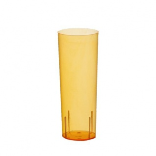 Einweg Gläser für Longdrinks Polystyrol 300ml orange 10 Stück