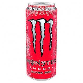 Monster Energy Drink Ultra Red mit rotem Früchte Mix 500ml 12er Pack