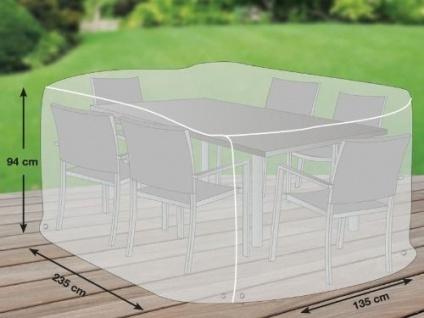 Premium Schutzhülle für Sitzgruppe rechteckig aus Polyester Oxford 600D - lichtgrau - von 'mehr Garten' - Größe L (235 x 135 cm)