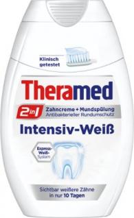 Theramed 2in1 Intensiv-Weiß Zahncreme & Mundspülung 75ml 3er Pack