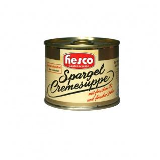 Hesco Spargelcremesuppe in Dosen mit Ei und Sahne 212ml 5er Pack
