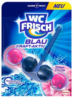 WC FRISCH Kraft-Aktiv Blauspüler Blüten-Frische, 10er Pack (10 x 1 Stück)