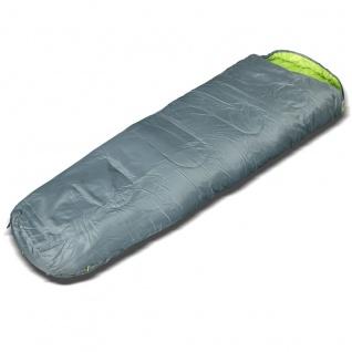 Sunsmile Mumienschlafsack Partnerschlafsack Reißverschluss rechts grau