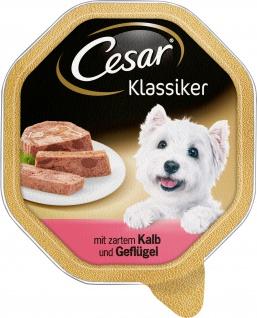 Cesar Nassfutter Klassiker Selektion mit Kalb und Geflügel 150g