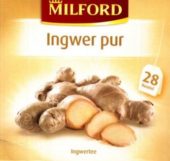 Milford Ingwer pur Kräutertee typisch würzige Schärfe 2er Pack