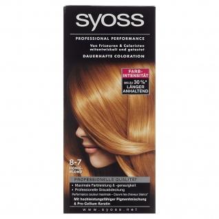 Schwarzkopf Syoss Color 8 bis 7 Honigblond mit Vitamin B5 115ml