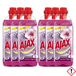 Ajax Allzweckreiniger Lavendel und Magnolie 1000 ml 6er Pack