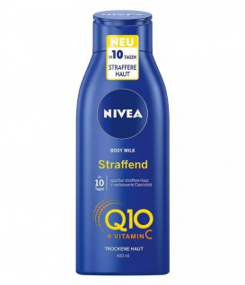 Nivea Body Milk Hautstraffend Q10+Vitamin C spürbar in 10 Tagen 400ml 4er Pack