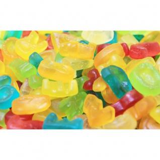 Fruchtgummi ABC Buchstaben und Zahlen in bunten Geschmackssorten 1000g