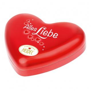 Heidel Alles Liebe Herz eine Metalldose mit 10 Pralinen 108g
