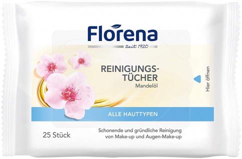 Florena Reinigungstücher für alle Hauttypen Mandelöl 25 Tücher