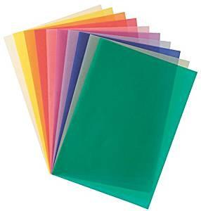Transparentpapier 10farbig sortiert