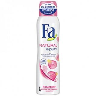 Fa Deospray Natural & Pure Rosenblüte, 6er Pack (6 x 150 ml)